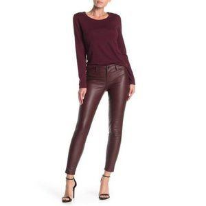 NWT BlankNYC Vegan Leather Oxblood Jeans Sz 26